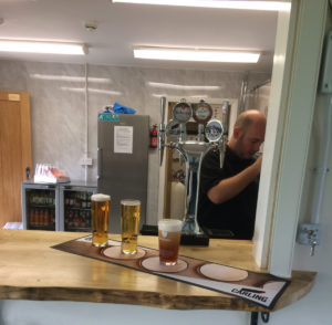 Photograph of the bar at Goathland Community Hub and Sports Pavilion