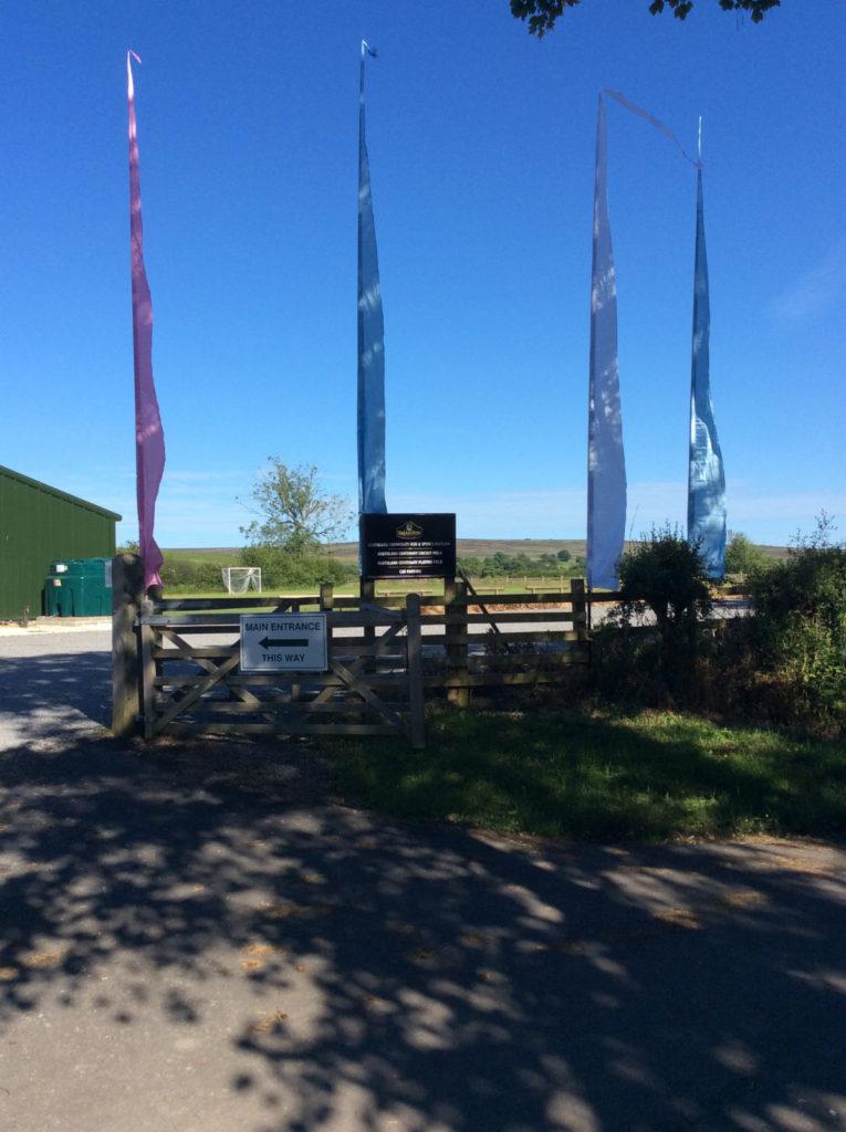 Flag poles outside the Goathland Hut
