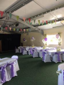 Inside the Goathland Hut ready for a celebration