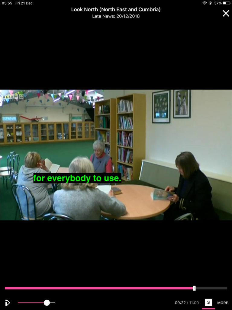 Still photo from Look North TV news program