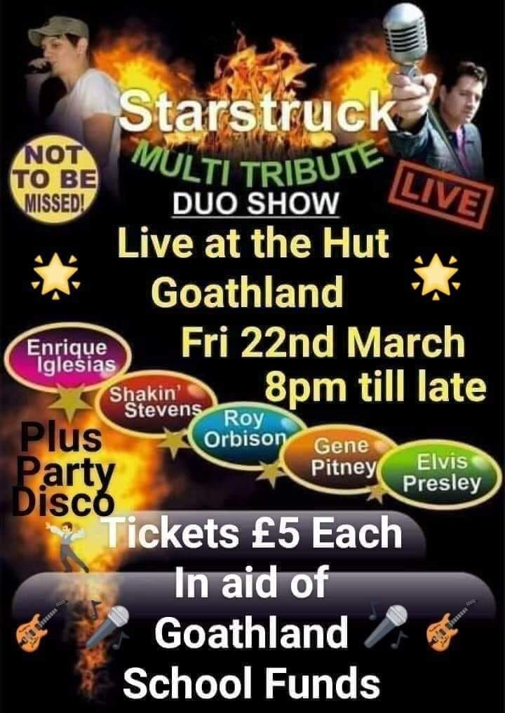 Poster for an event at Goathland Hut