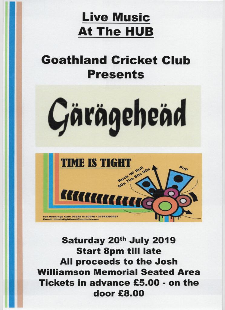 Garagehead concert poster